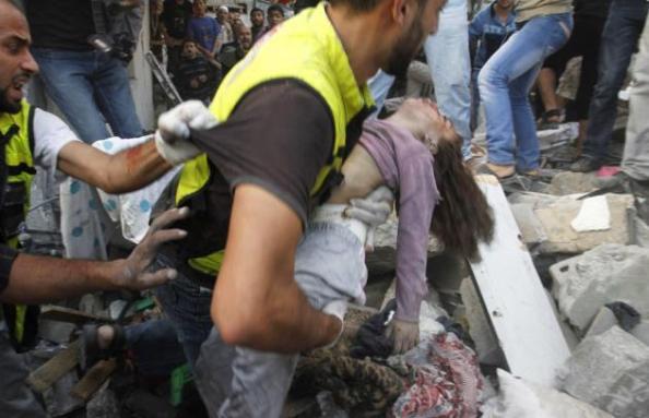 Gaza - efter en av hundratals israeliska terrorbombningar
