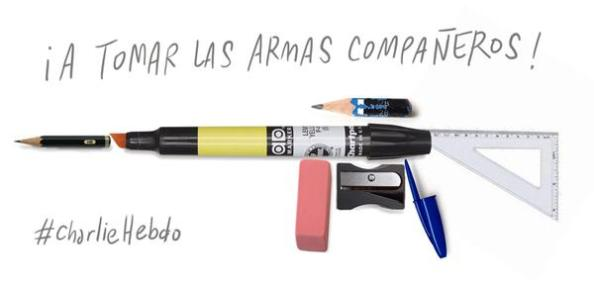 Den chilenske illustratören Fransisco J. Olea kallar till vapen med sin bild.