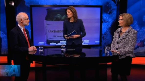 Dan Larhammar och Ursula Flatters i SVT aktuellt