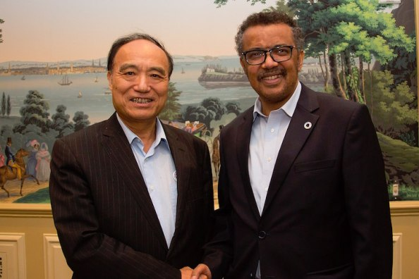 Tedros with Houlin Zhao in 2017, CC BY 2.0 File:Houlin Zhao with Dr Tedros Adhanom Ghebreyesus - 2017 (36433272494).jpg